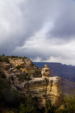 Duck Rock is a well-known overlook on the South Rim.