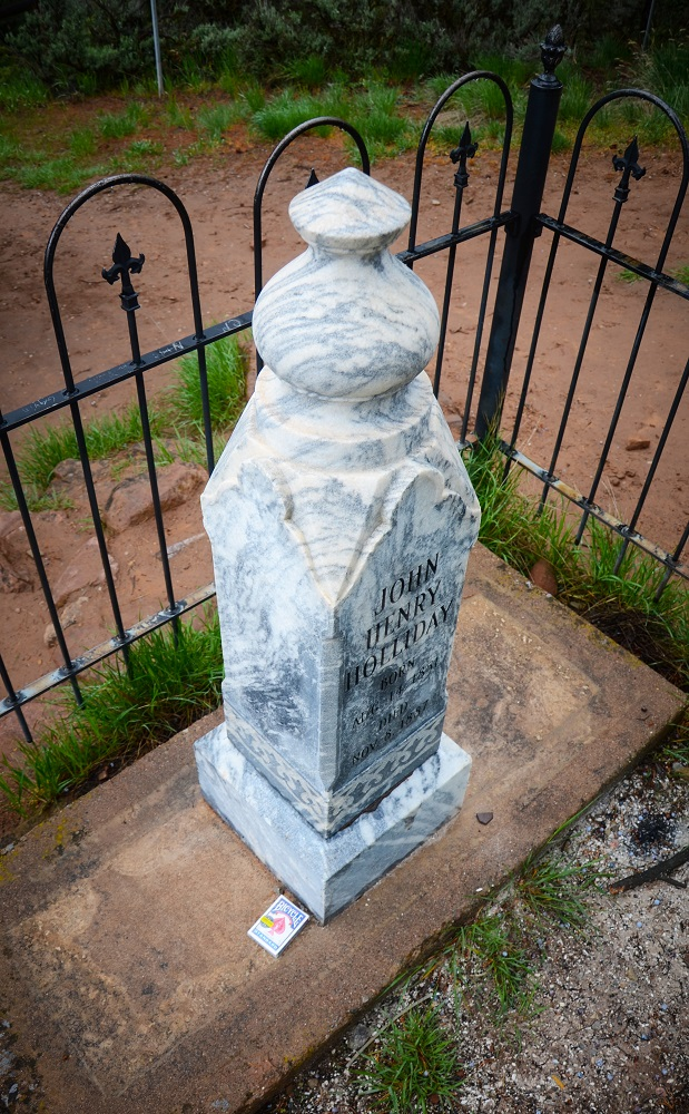 The current marker replaced an earlier stone placed in the 1950s that had incorrect information.  Cards, whisky and tokens are often found at the site, left by admirers.