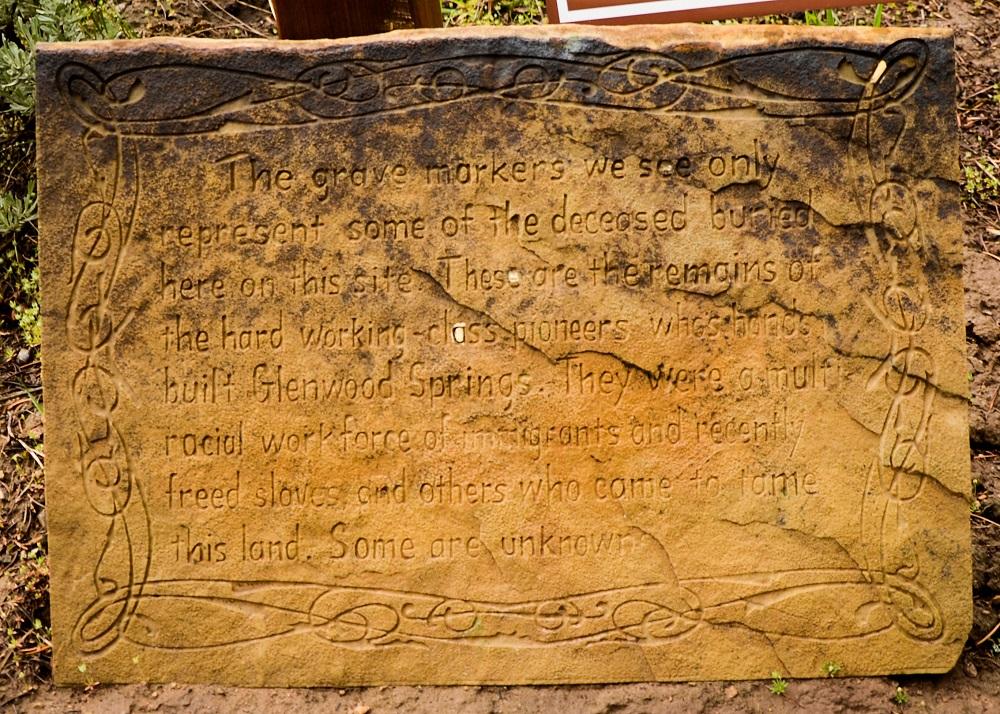 Older marker for cemetery
