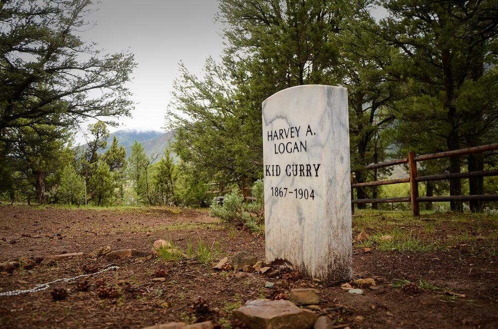 "Harvey ""Kid Curry"" Logan, part of Butch Cassidy's gang, has a marker in the paupers section of the cemetery."