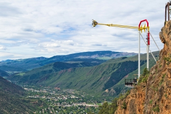 Nope... nope... well, maybe. The Glenwood Swing slings you out over 1300 feet of air space above the Colorado River.