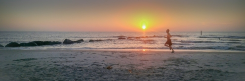 The Beckster's photo of a Tybee Beach runner at sunrise.